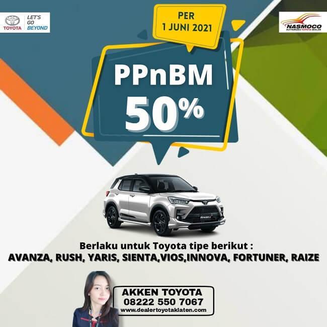Beli Mobil Baru Toyota Promo PPNBM 50% Di Toyota Klaten