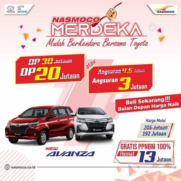 Spesial Promo Merdeka Agustusan Beli Mobil DP Minim Di Toyota Klaten