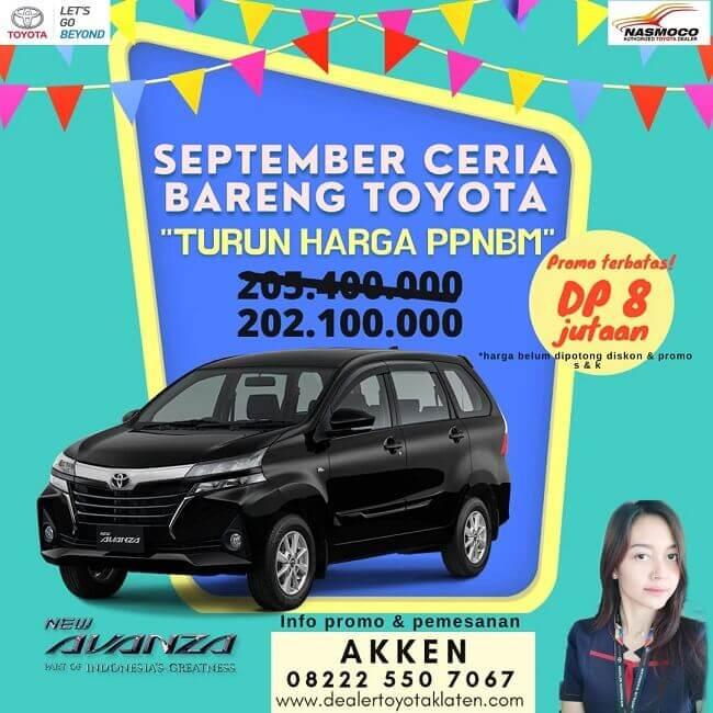Promo September Ceria Turun Harga PPNBM Di Toyota Klaten